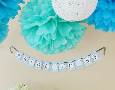"Something Blue ""Bride-To-Be"" Banner"