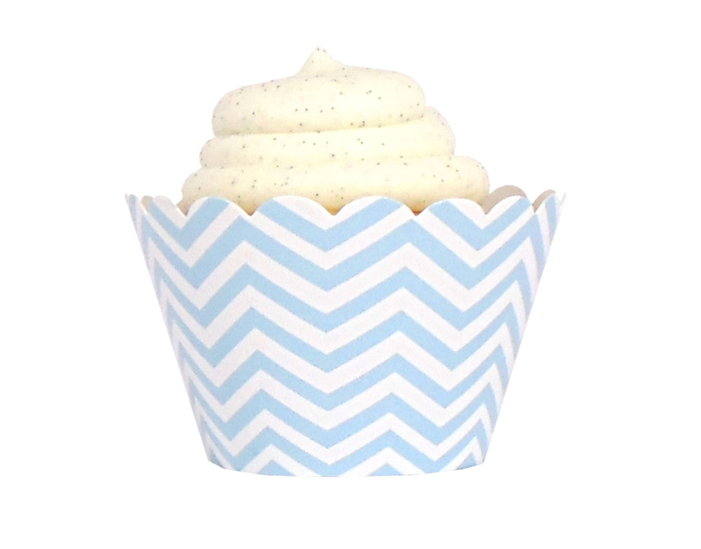 Chevron Cupcake Wrappers - Blue