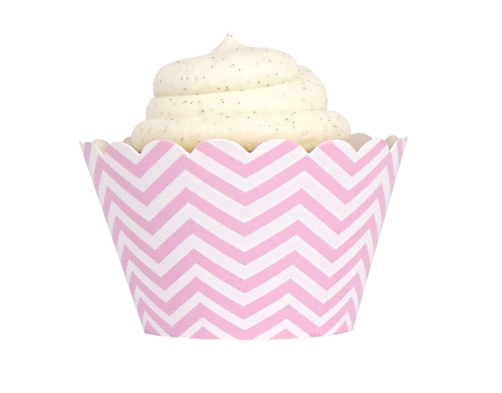 Chevron Cupcake Wrappers - Pink