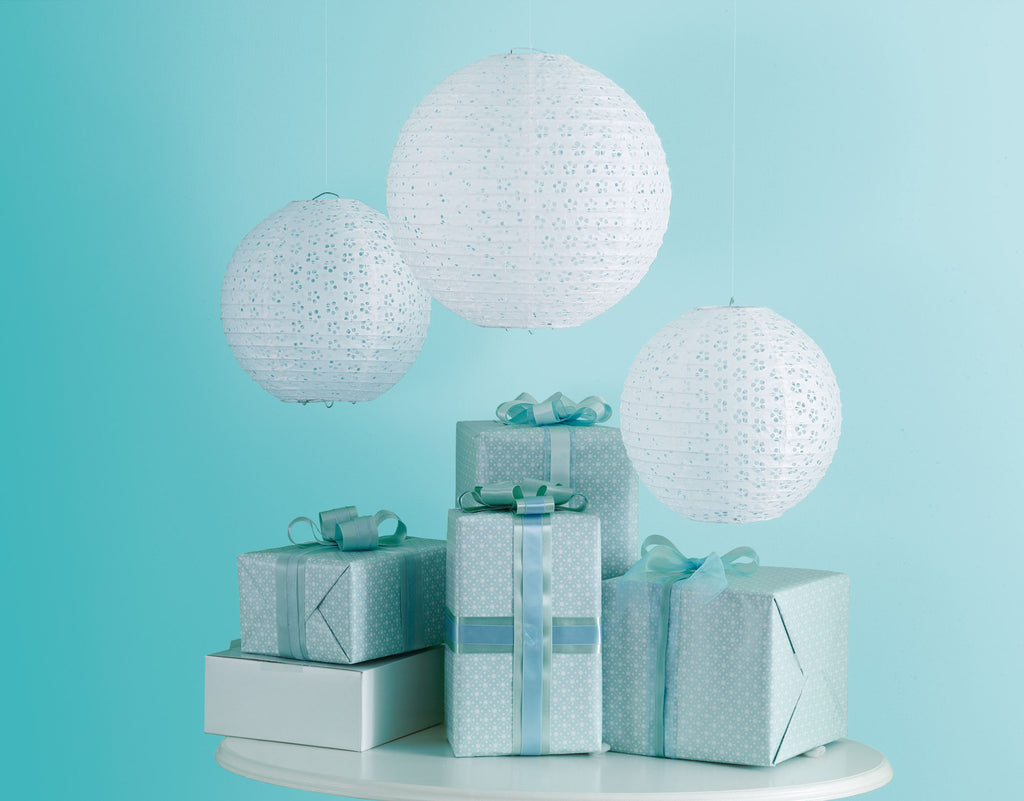 White Doily Lace Eyelet Lanterns