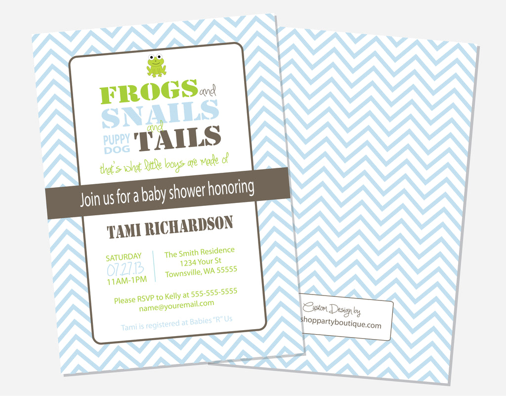 Frogs & Snails Invitations