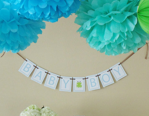 "Frogs & Snails ""Baby Boy"" Banner"