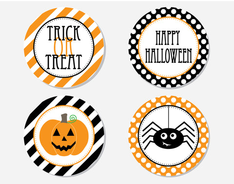 Halloween - Party Labels