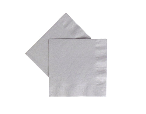 Beverage Napkins - Gray