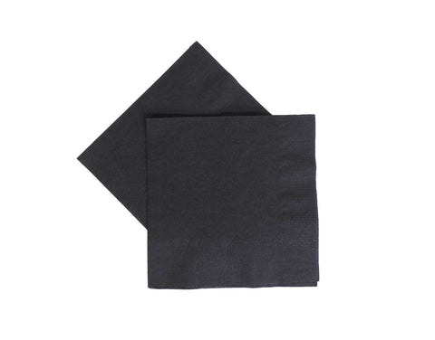 Beverage Napkins - Black