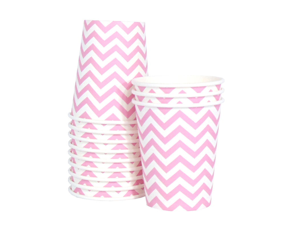 Chevron Paper Cups - Pink