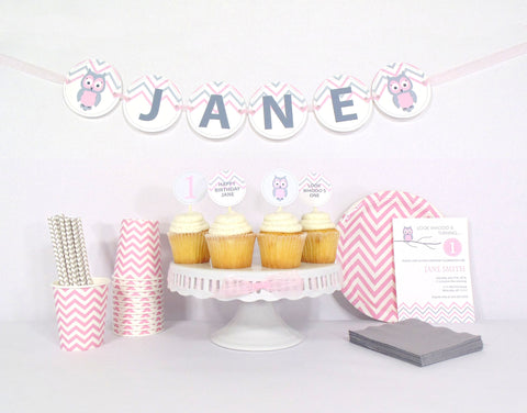 Pink Owl Birthday - Starter Kit