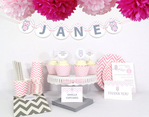 Pink Owl Birthday - Ultimate Kit