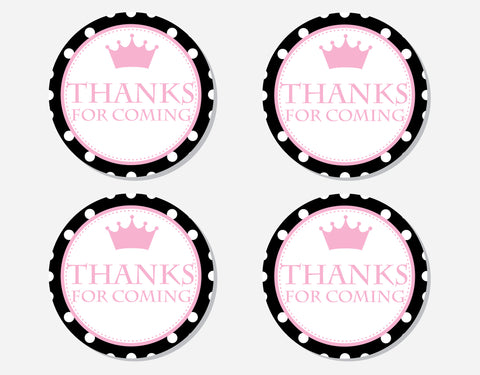 Princess - Thank You Labels