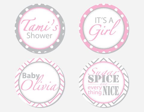 Sugar & Spice - Party Labels