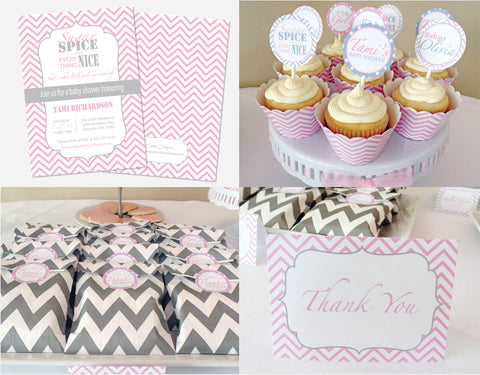 Sugar, Spice & Everything Nice Stationary Kit