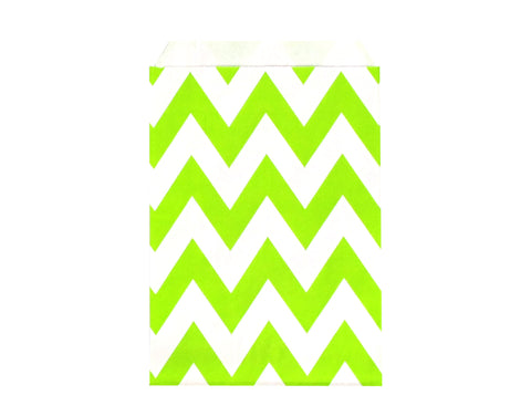 Chevron Favor Bags - Green