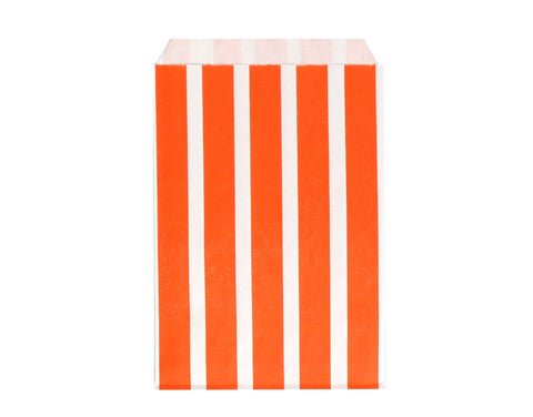 Vertical Stripe Favor Bags - Orange