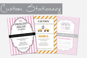 Custom Party Stationary