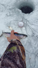 Ice fishing success with an iBobber sonar fish finder