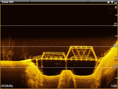 Sonar depth finder and waterbed mapping