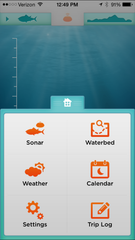 iBobber fishfinder app for iPhone or Android