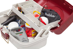 iBobber and digital scale in a fishing tackle box