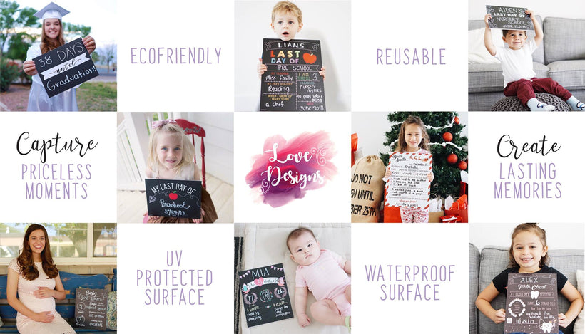 Love Design Reusable Signs