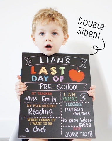 First and Last Day of School Reusable Signs by Love Designs-