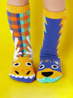 PALS Moose and Bear Mismatched Socks Age 1-3 and Age 4-8