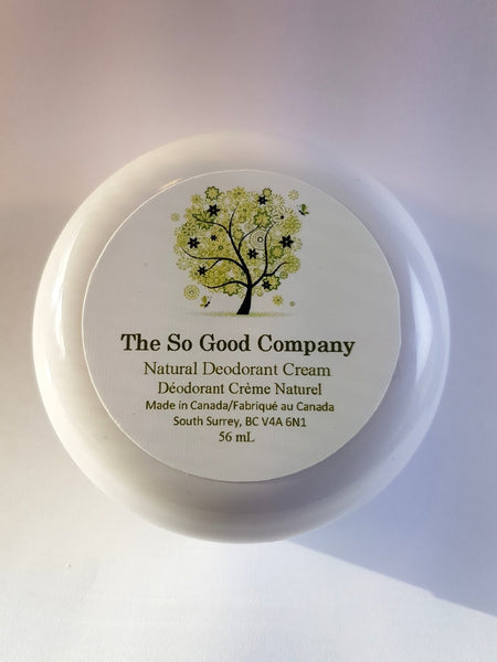 So Good Natural Deodorant Cream