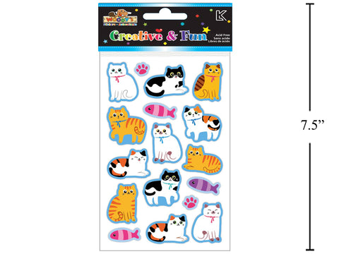 Woody's Puffy Cat Stickers