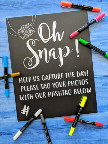 Hashtag Reusable Sign By Love Designs