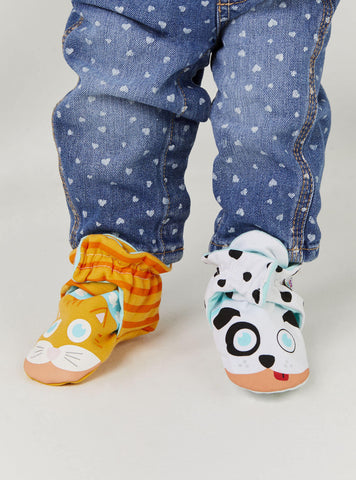 PALS Mismatched Baby Booties - Kitten and Puppy Now in Stock!
