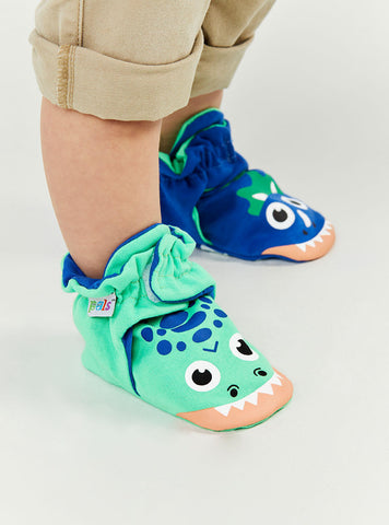 PALS Mismatched Baby Booties- T- Rex and Triceratops- Now in Stock!