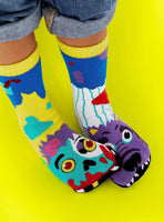 PALS Zombie and  Werewolf Mismatched Socks Age 4-8