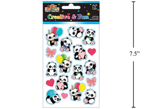 Puffy Panda Stickers