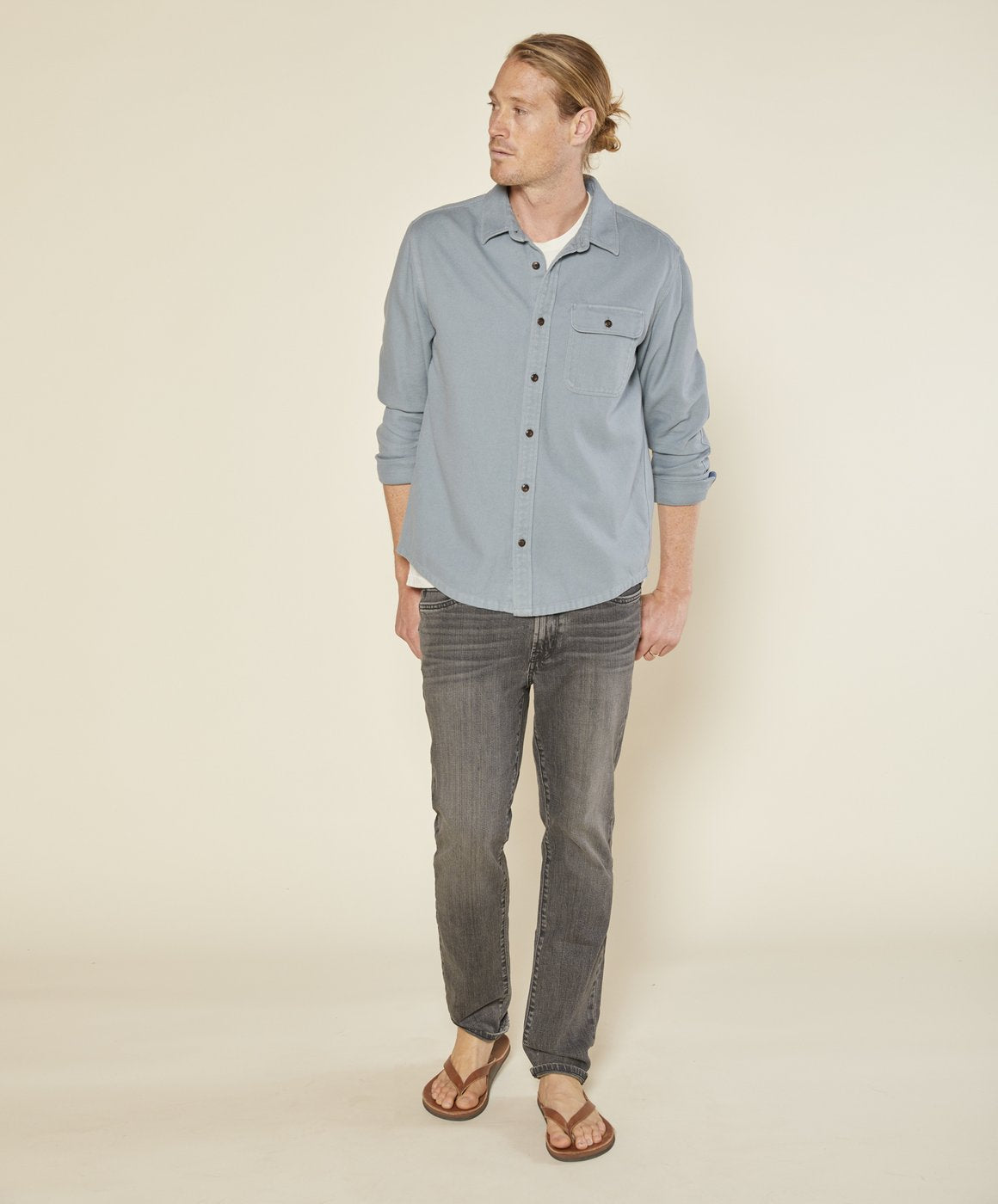 RAMBLER SHIRT - ASH BLUE