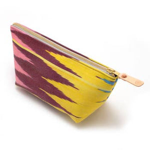 Vintage Dusty Ikat Travel Clutch