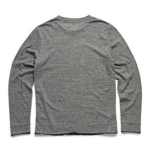 Surfside - L/S Double Roll Bicolor Crew - SPECKLED GREY