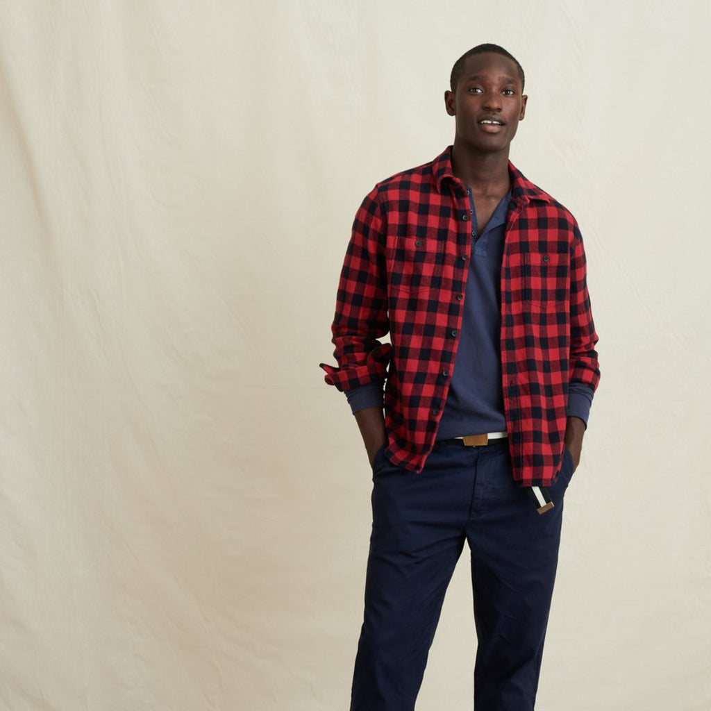 Flannel Chore Shirt - Red