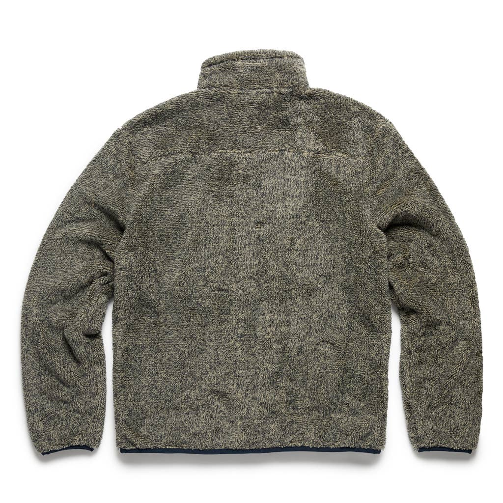 Surfside - Two-Toned Marled Sherpa Jacket - Navy/Flint Grey