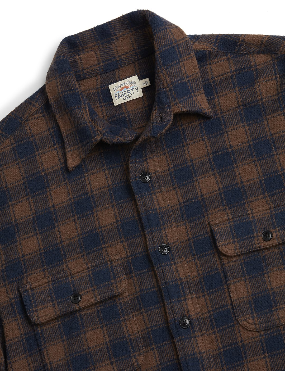 Faherty - Legend Sweater Shirt - Cider Plaid
