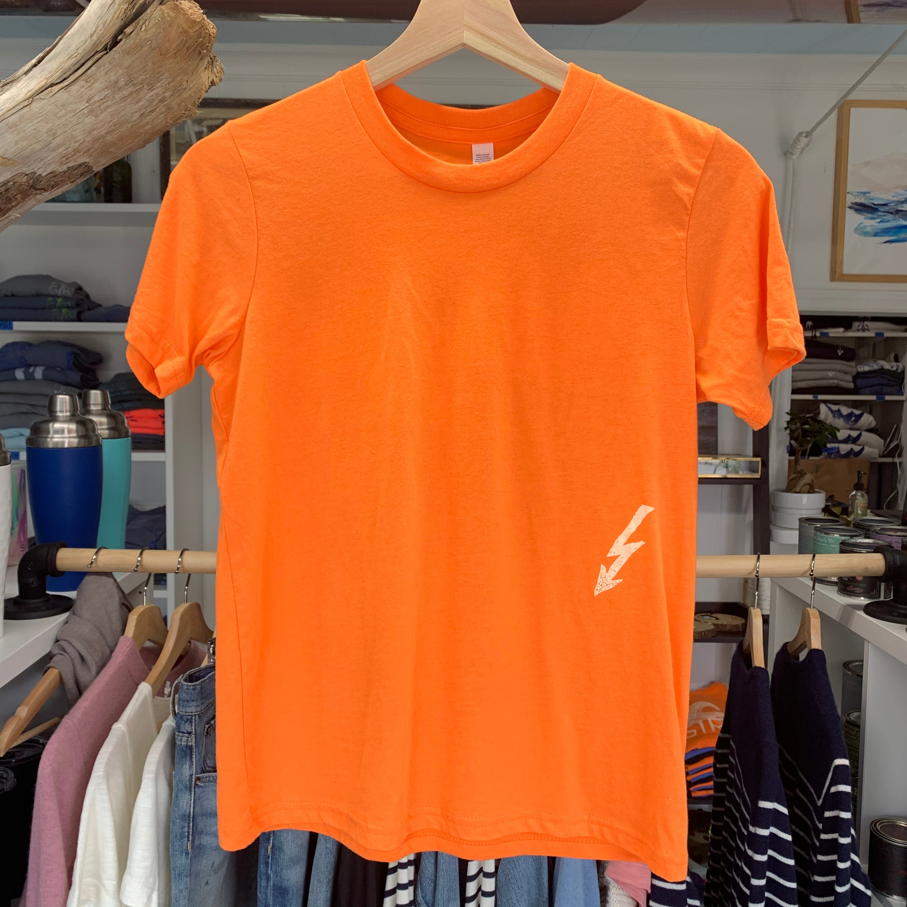 Youth Big Wave Tee - Neon Orange
