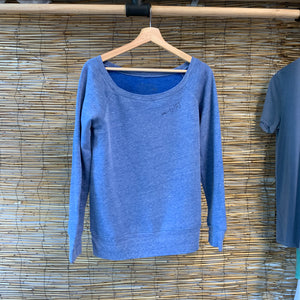SG Wide Crewneck - Blue Triblend