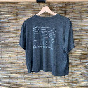 Wavy Cropped Tee - Dark Grey Heather