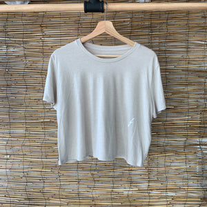 Wavy Cropped Tee - Heather Dust