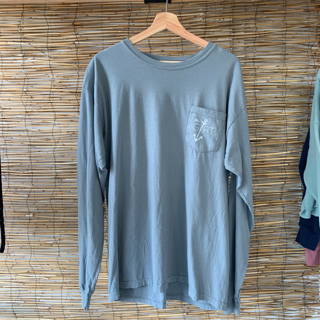 LS Anchor Pocket Tee - Granite