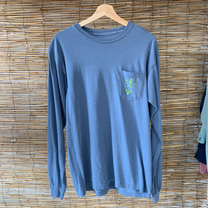LS Anchor Pocket Tee - Blue Jean w/ Green