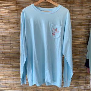 LS Anchor Pocket Tee - Chambray