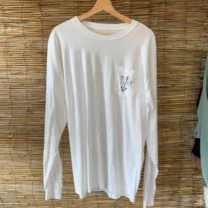 LS Anchor Pocket Tee - White