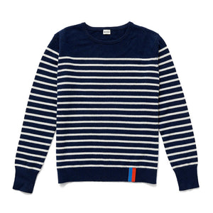 The Sophie Stripe Crew Sweater - Navy/Cream