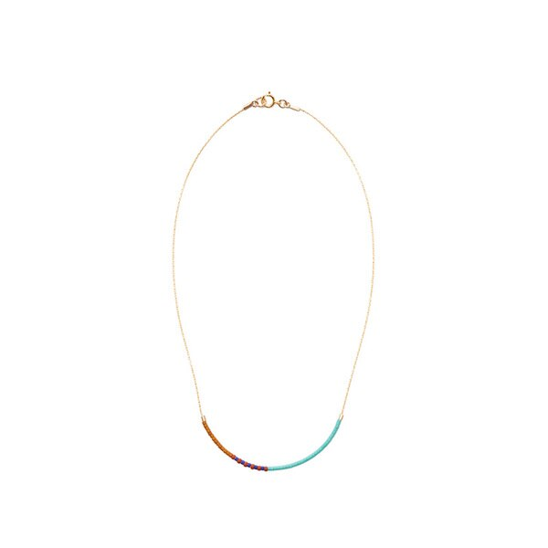 Septima Gold-Filled Pattern Choker - Turquoise