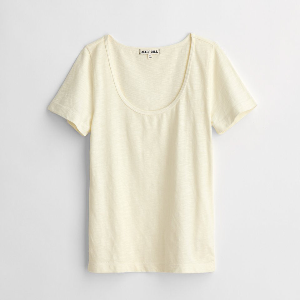 Standard Scoopneck T-Shirt in Slub Cotton (Ecru)