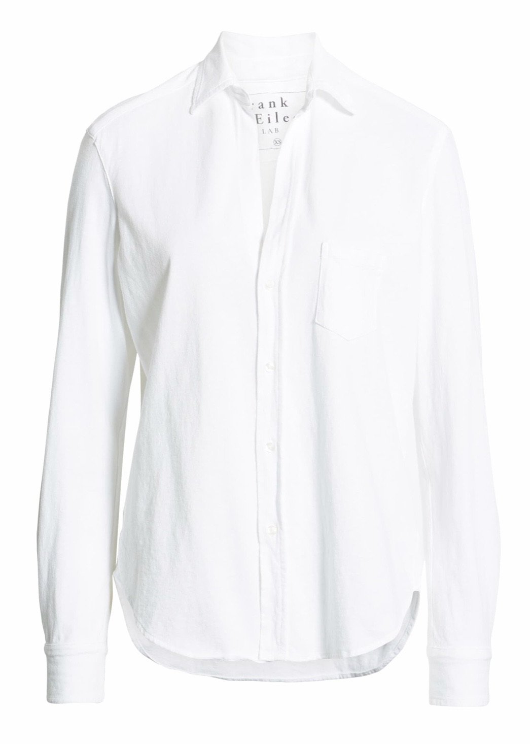 Eileen Knit Button Down Shirt - White